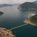 Floating Piers en el lago de Iseo