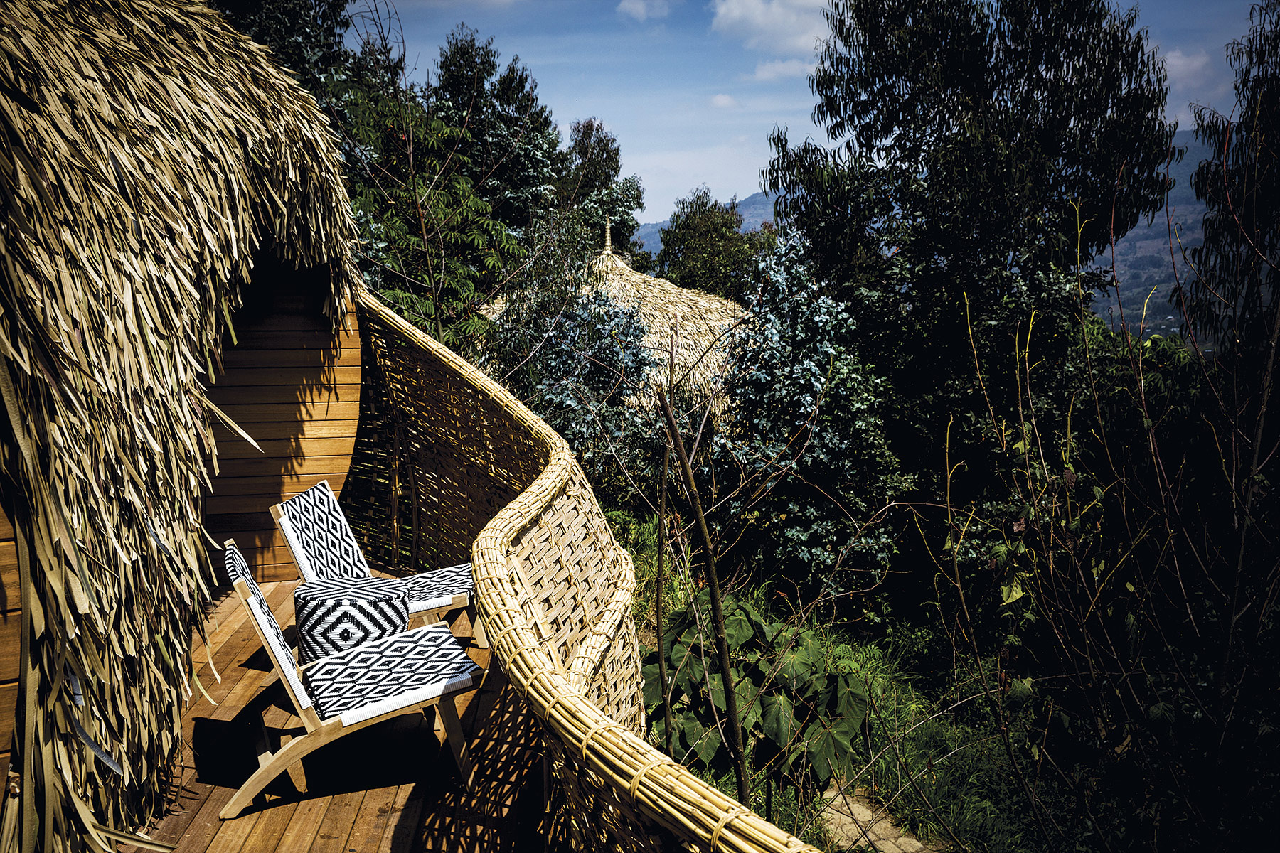 Descanso natural en Bisate Lodge