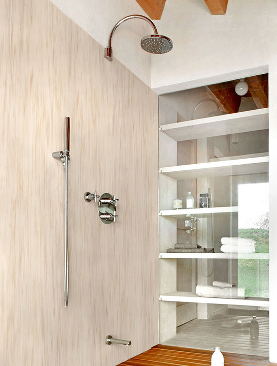 Baño con superficies de Corian Design