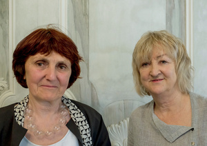 Shelley McNamara e Yvonne Farrell, fundadora de Grafton Architects.