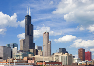 La Torre Willis en Chicago mide 442 metros.