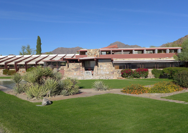 Taliesin West de Frank Lloyd Wright en Scottsdale, Arizona.