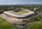 Nuevo estadio sustentable por Zaha Hadid Architects.